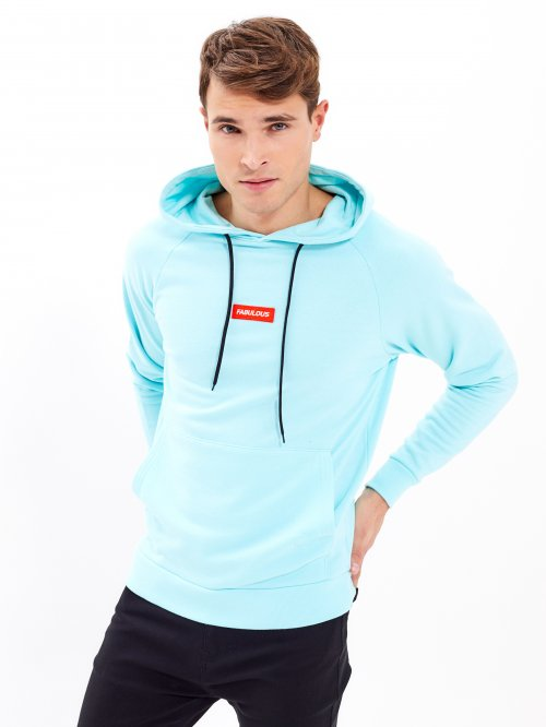 Hoodie with chest patch