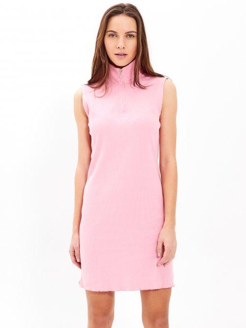 430dd96805c4 Rebrované šaty s vysokým golierom
