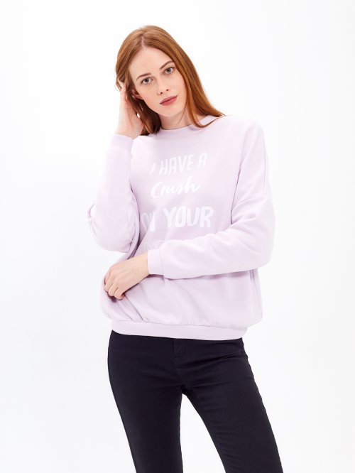 Message print sweatshirt