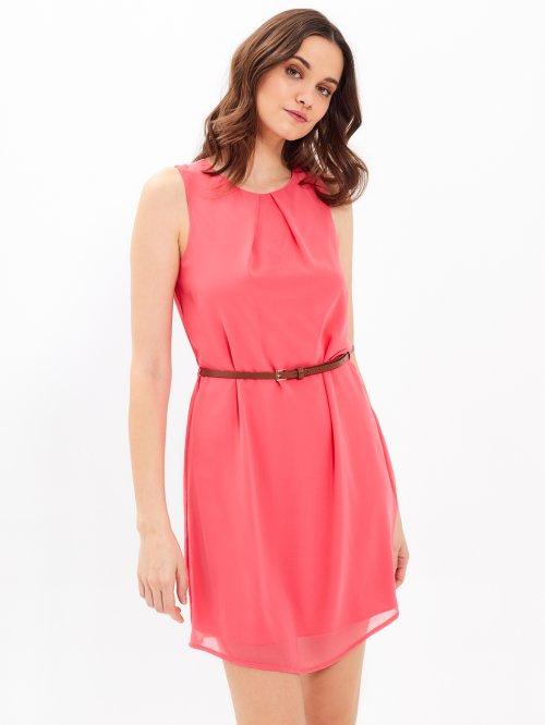 Šifónové šaty s opaskom 358498f3284