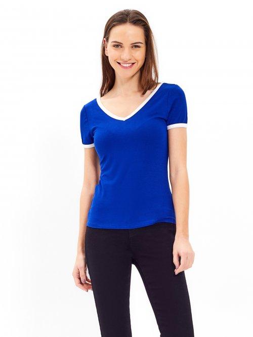cb387a4fd832 Základné tričko s kontrastným lemom