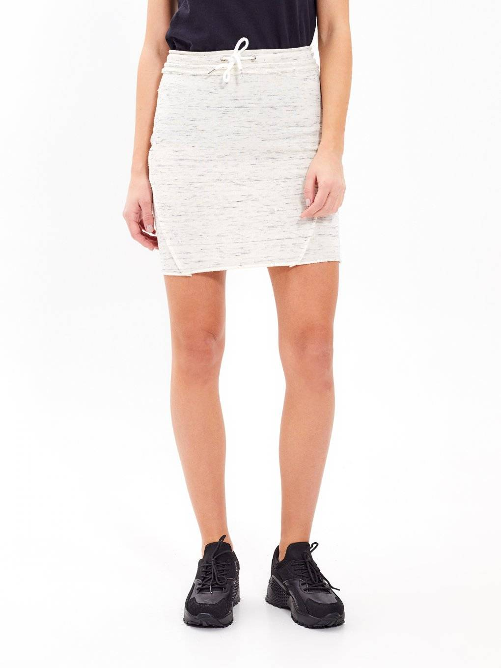 BODYCON SKIRT WITH RAW EDGE