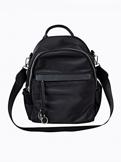TEXTILE BACKPACK WITH SHOULDER STRAP