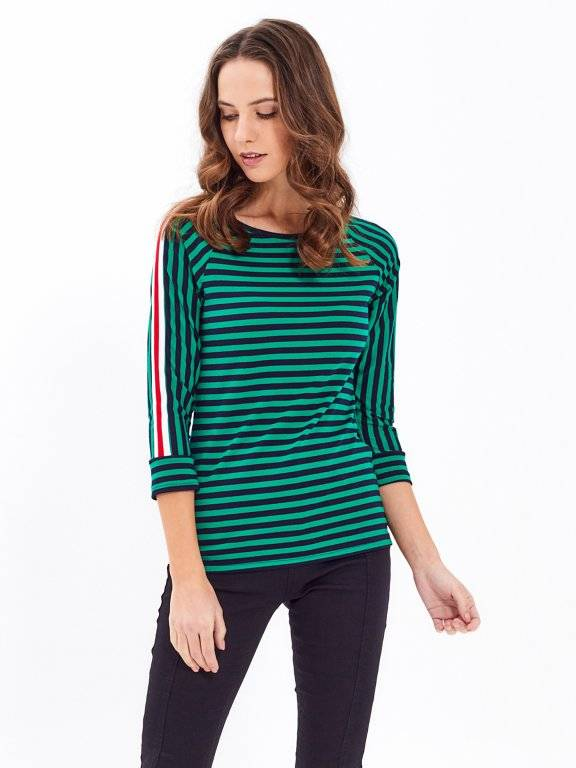 TAPED STRIPED TOP