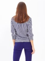 Striped shirt with patch