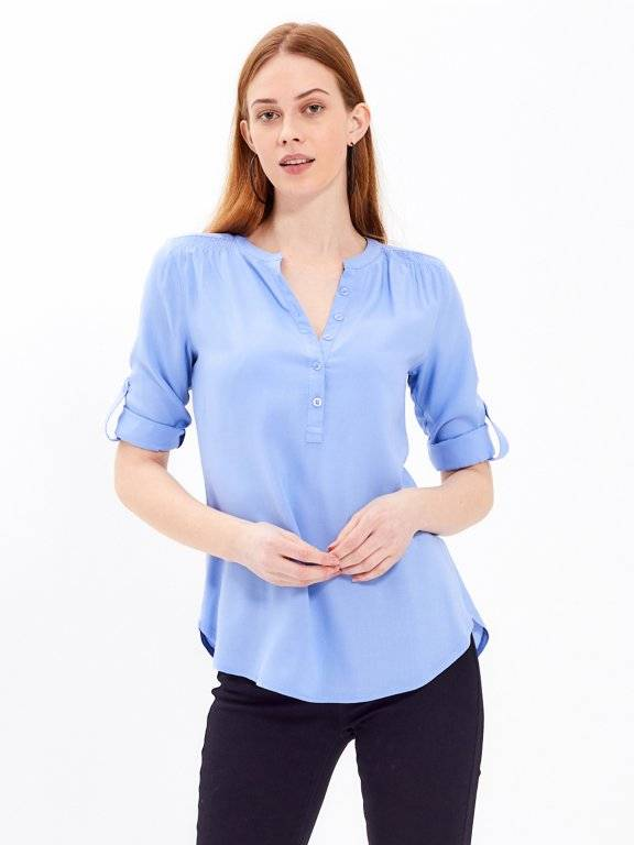BASIC VISCOSE BLOUSE