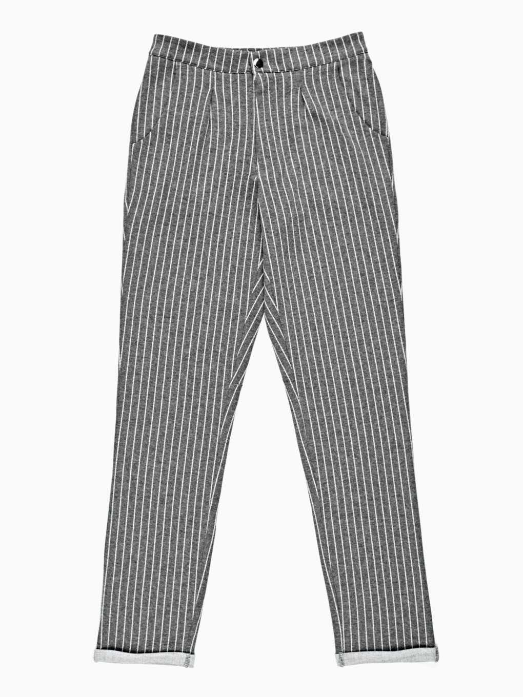 STRAIGHT STRIPED TROUSERS