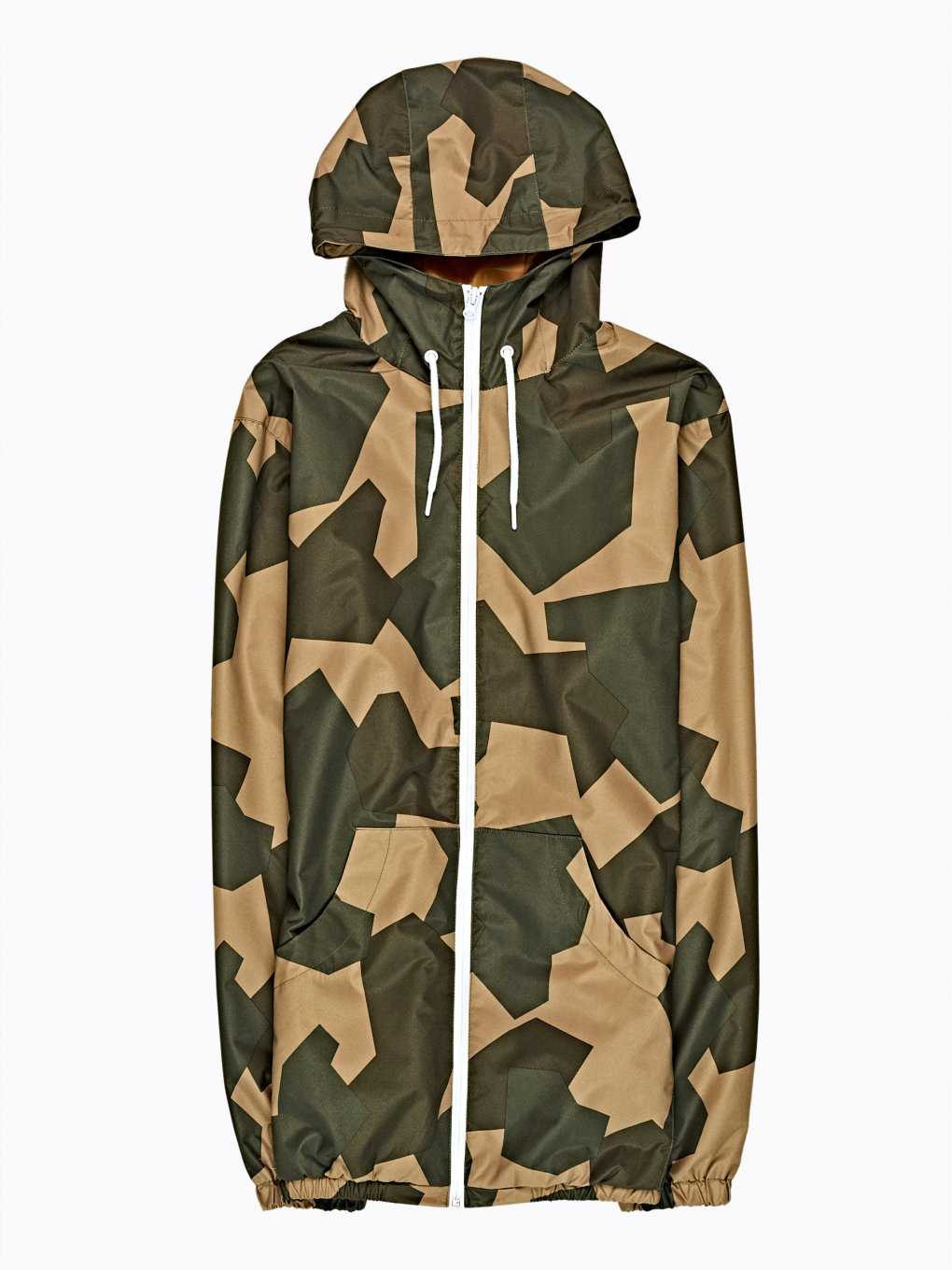 CAMO PRINT HOODED JACKET
