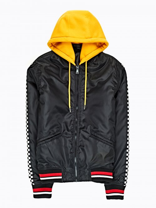 Light padded bomber jacket with hood