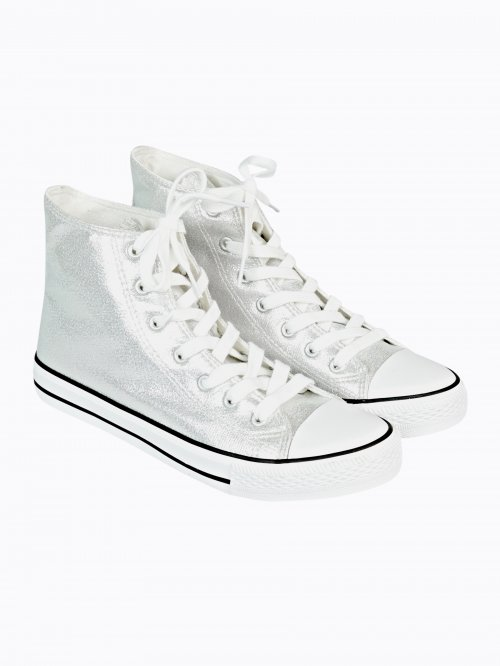 METALLIC HIGH-TOP SNEAKERS