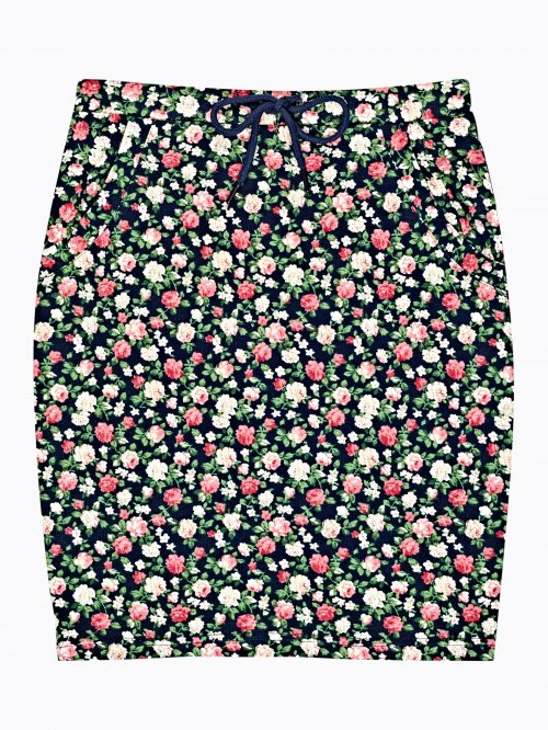 Floral print bodycon skirt