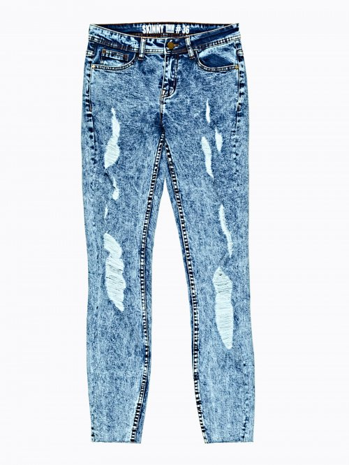 Damaged skinny jeans