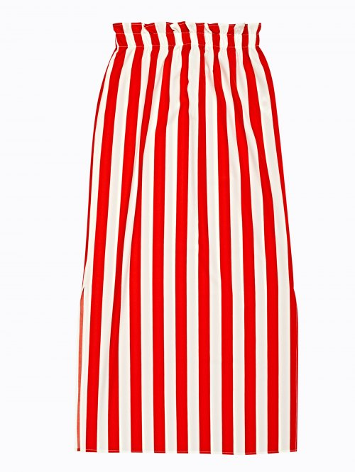 Highwaisted striped maxi skirt