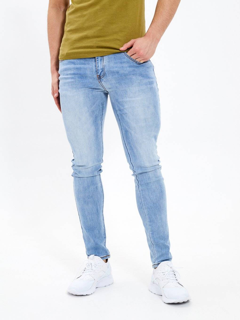 Basic straight slim jeans