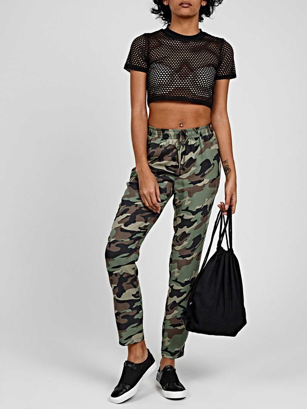 CAMO PRINT JOGGER TROUSERS