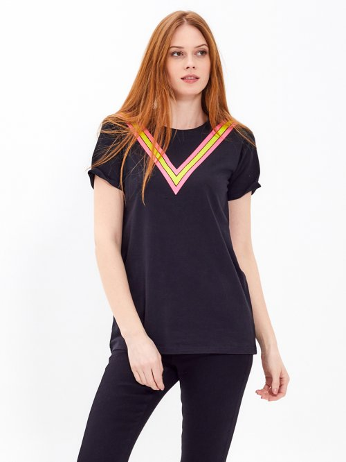 Longline t-shirt with print