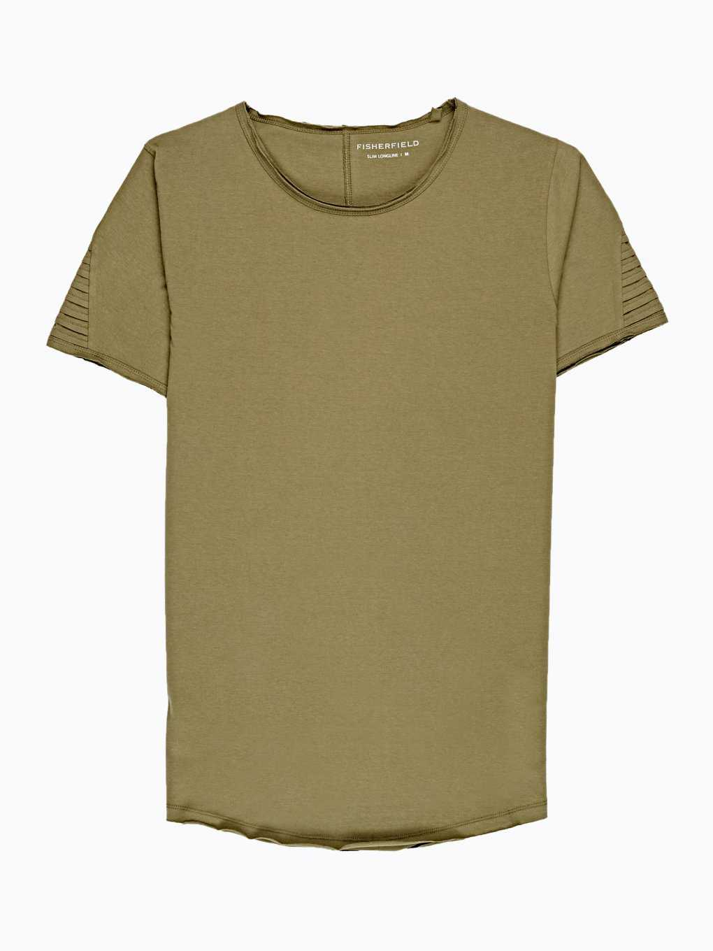 LONGLINE T-SHIRT WITH RAW EDGES