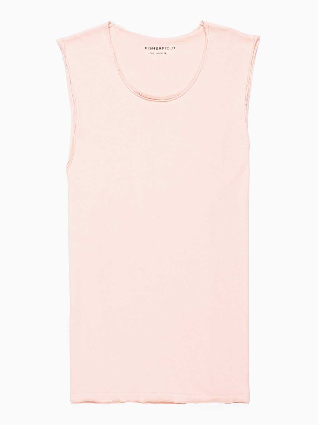 BASIC TANK TOP WITH RAW EDGE