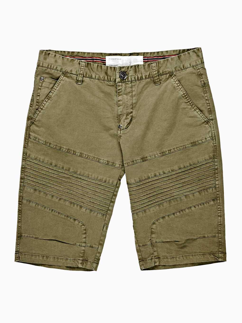 COTTON STRAIGHT FIT SHORTS
