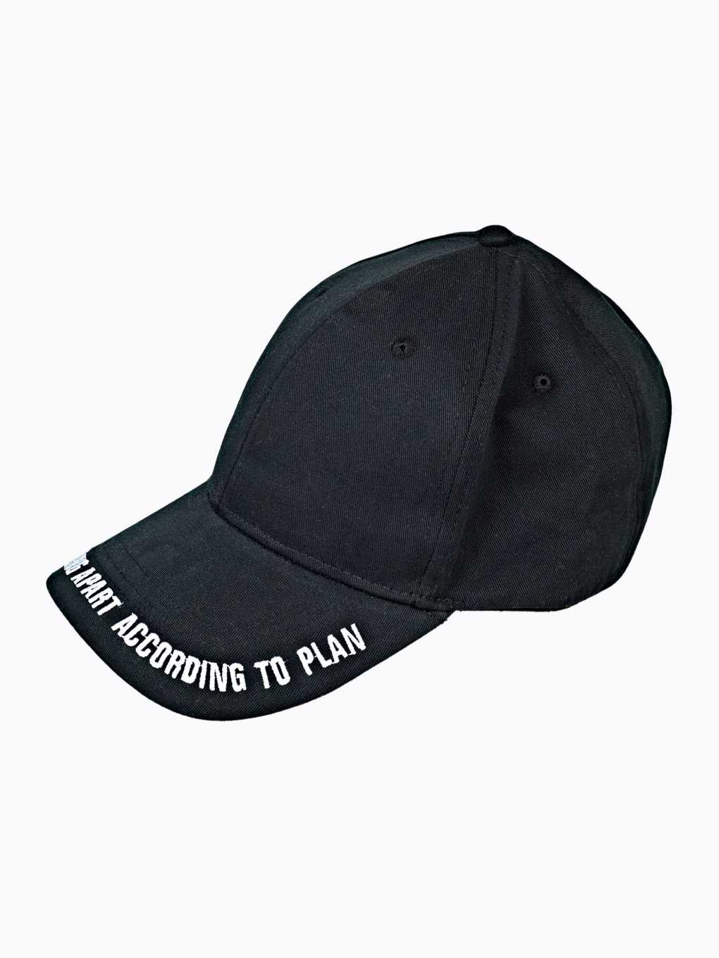 Baseball cap with message embroidery