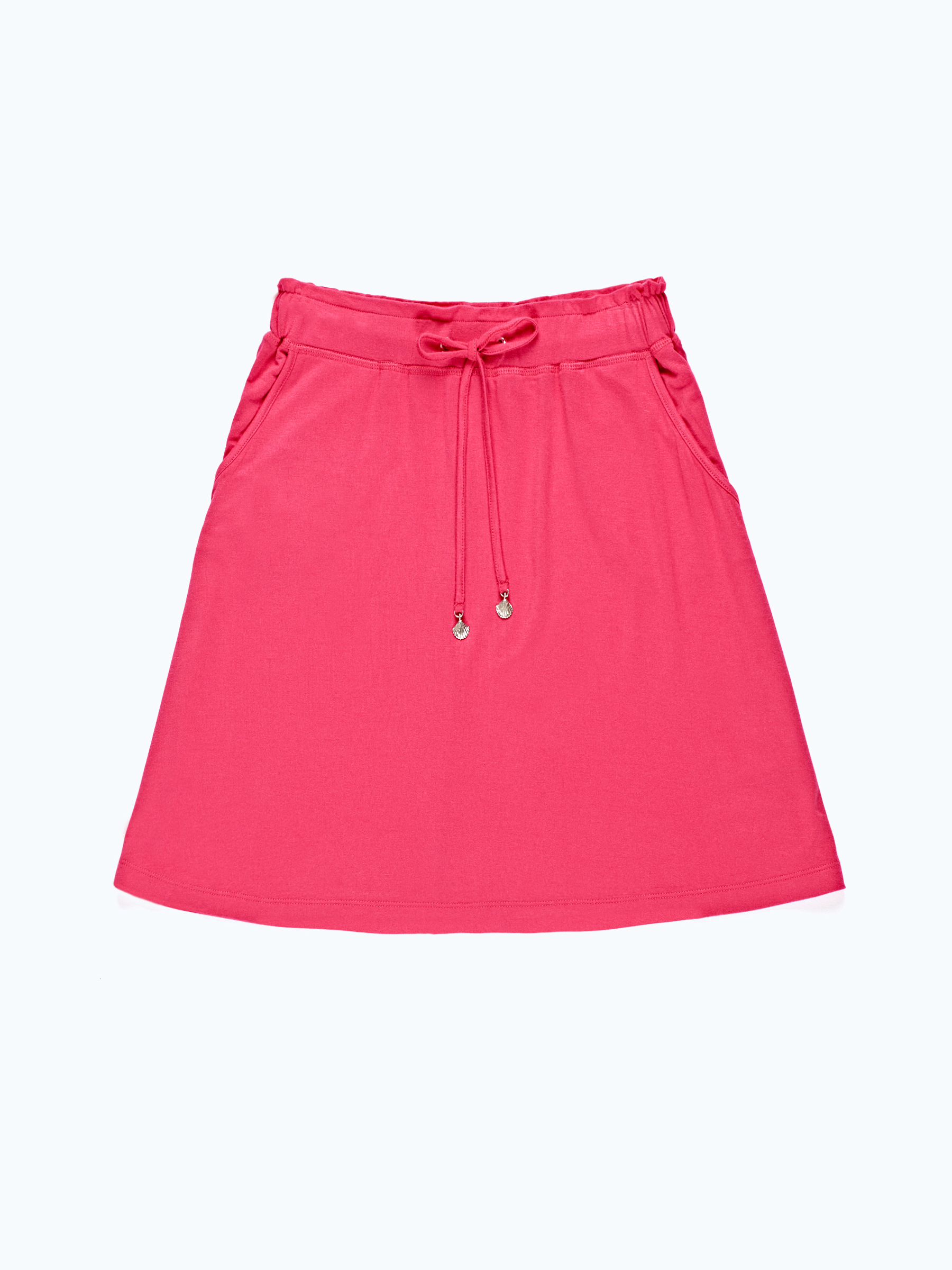 GATE Áčková džersejová sukňa s vreckami