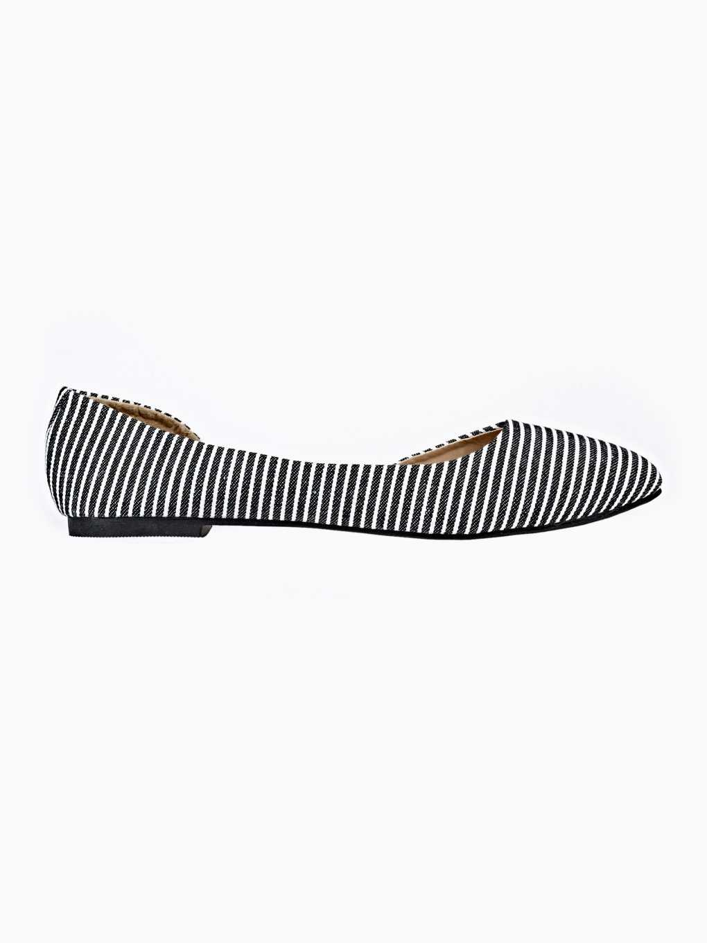 STRIPED CUT OUT BALLERINAS