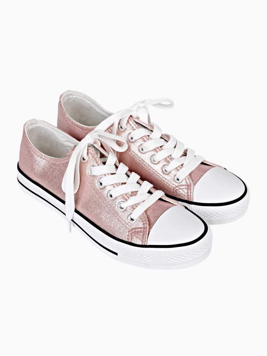 METALLIC LACE-UP SNEAKERS