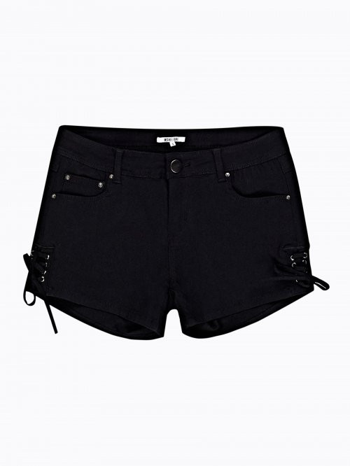 SKINNY SHORTS WITH SIDE LACING