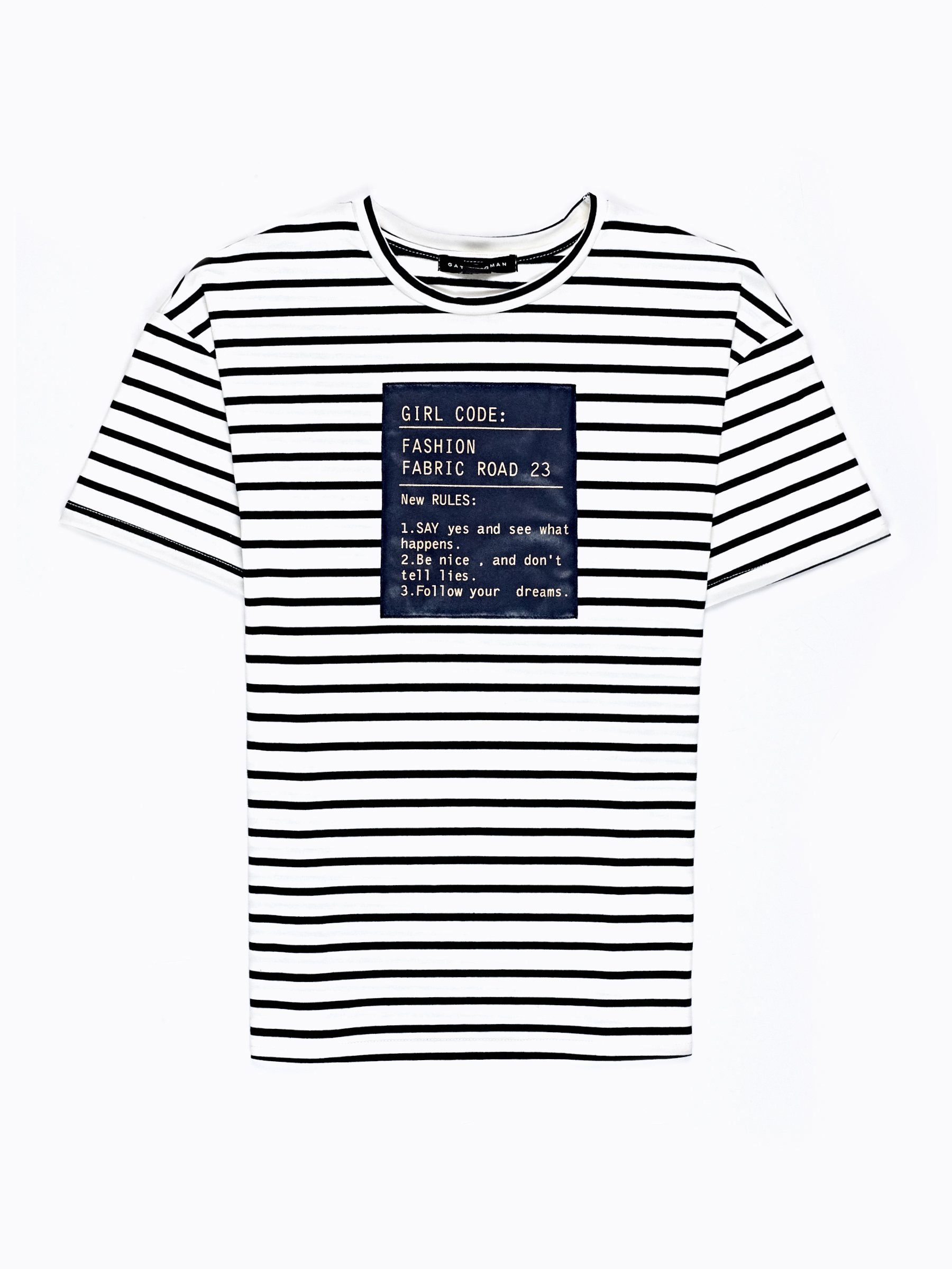 5,98 €, | STRIPED T-SHIRT WITH PATCH