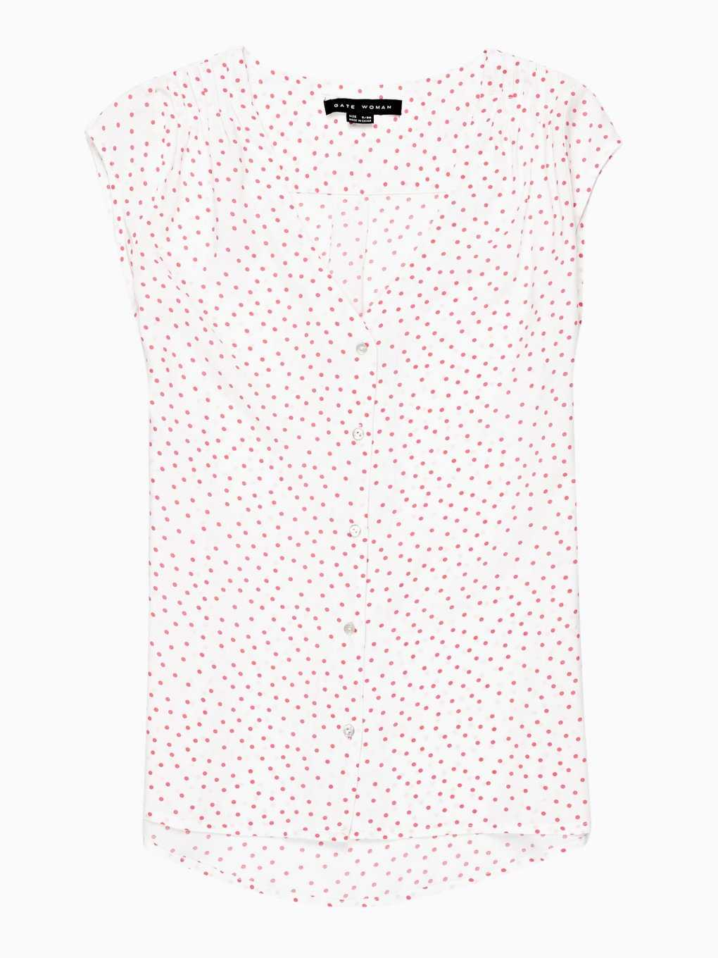 POLKA DOT PRINT SLEEVELESS TOP
