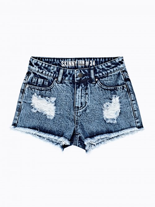 FRAYED DENIM SHORTS