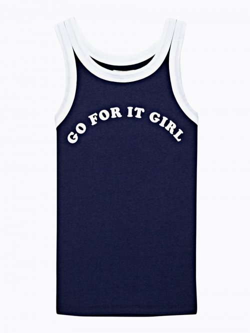 TANK WITH MESSAGE PRINT