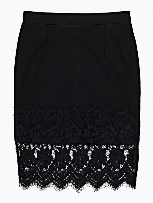 BODYCON SKIRT WITH LACE