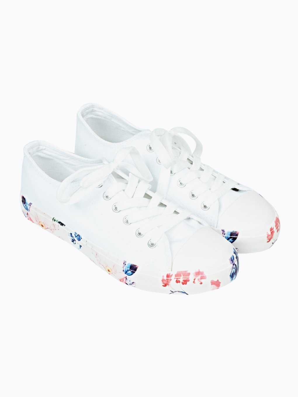 Sneakers with floral outsole