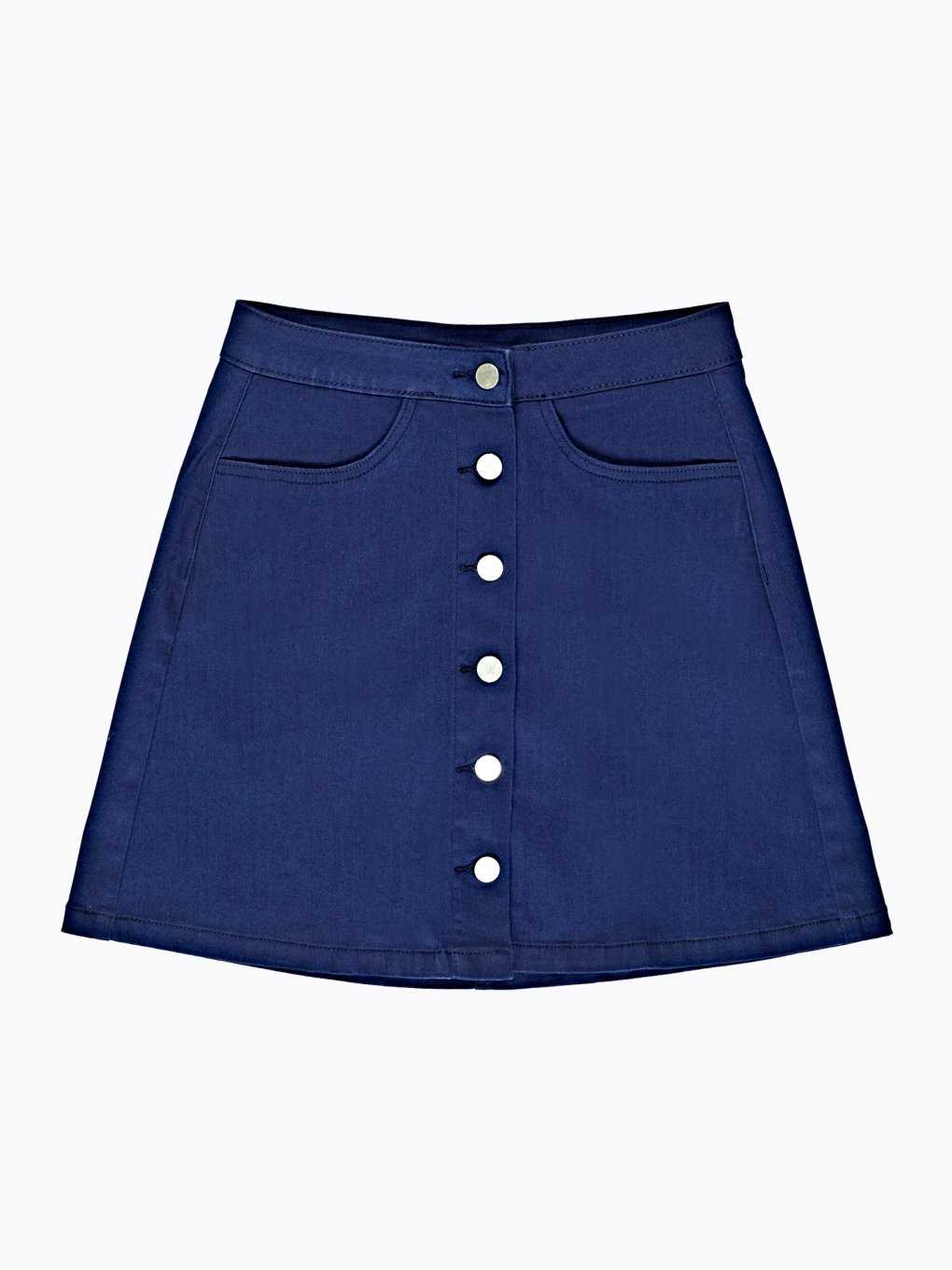Button-up a-line skirt