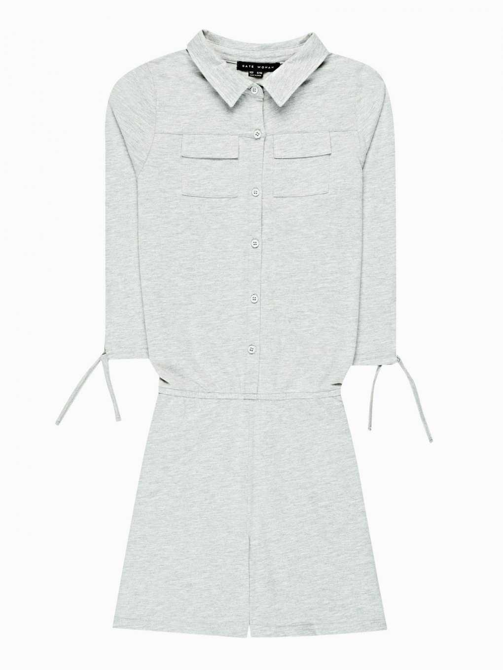 Short jumpsuit with chest pockets