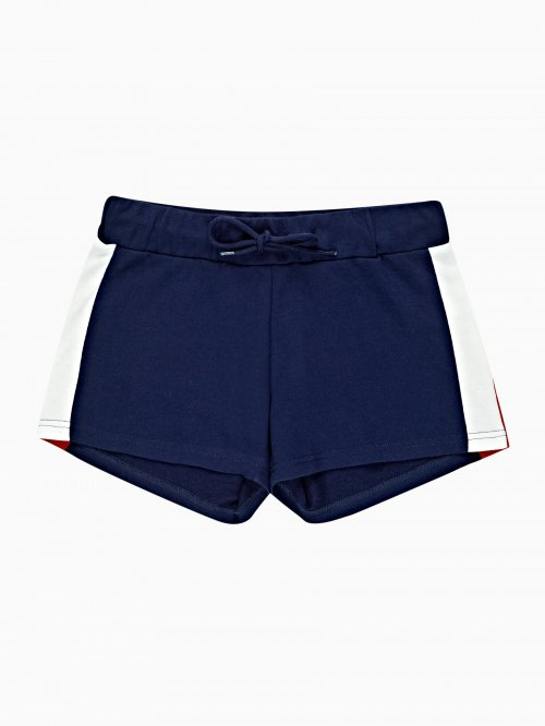SWEAT SHORTS WITH SIDE PANEL