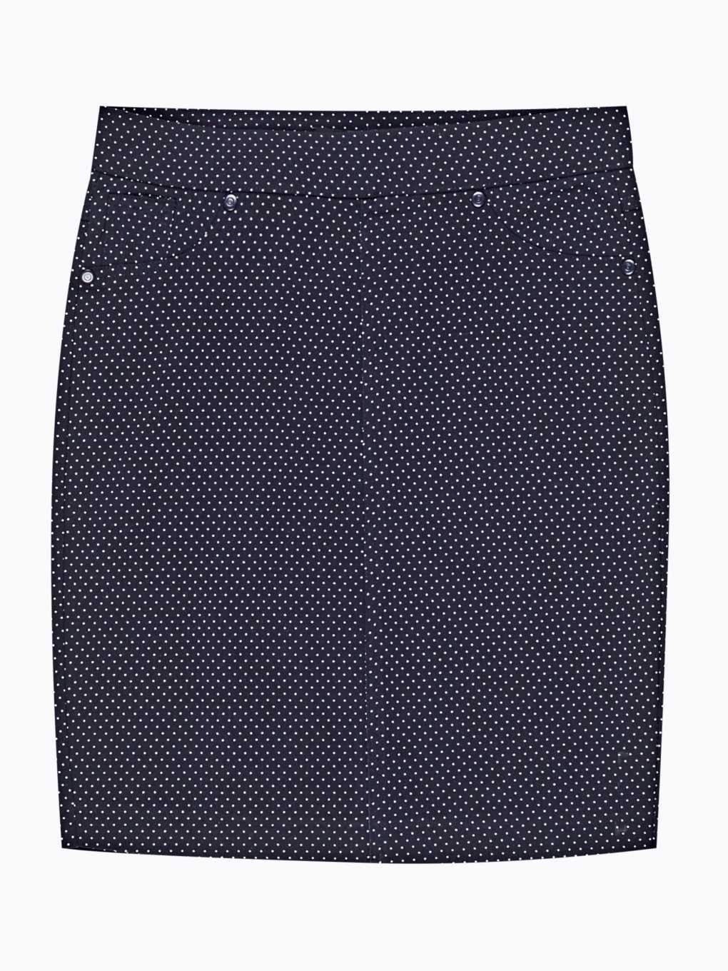 Polka dot print bodycon skirt