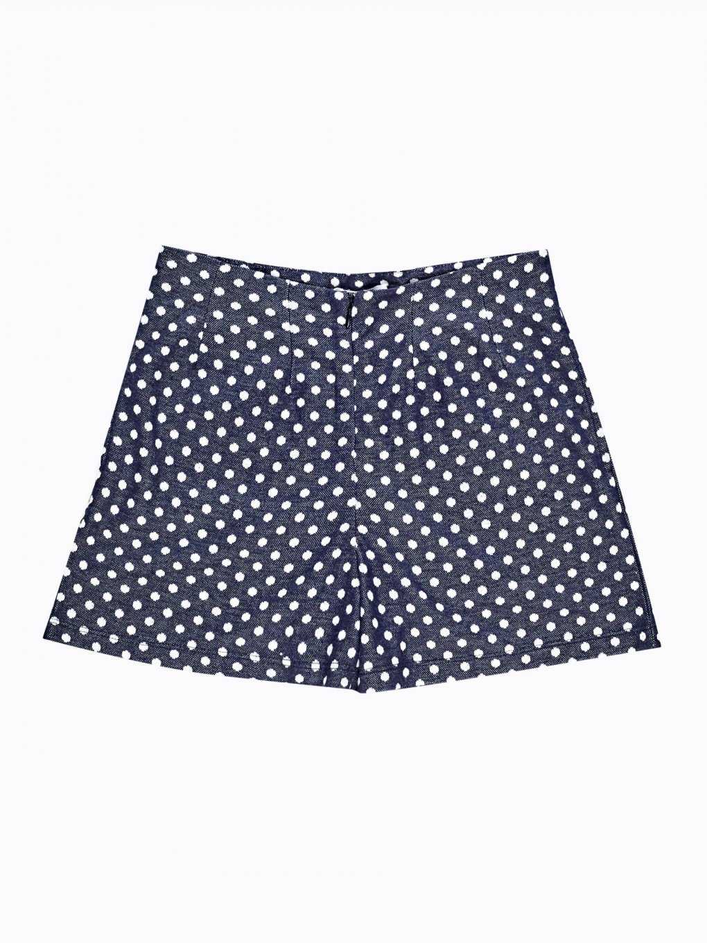 Polka dot regular shorts