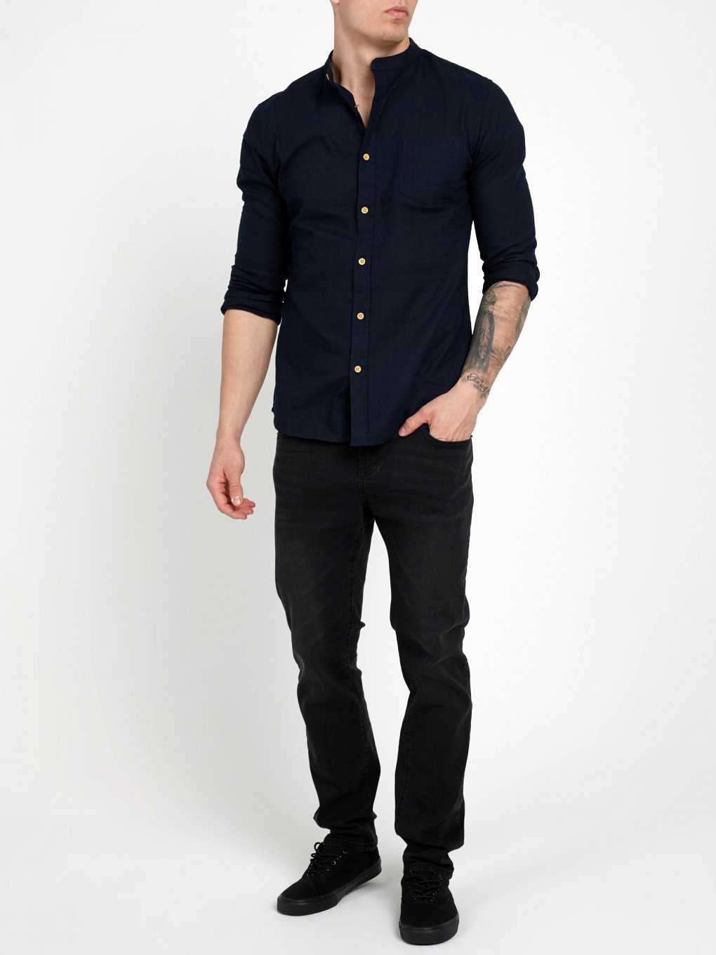 SLIM FIT SHIRT IN LINEN BLEND