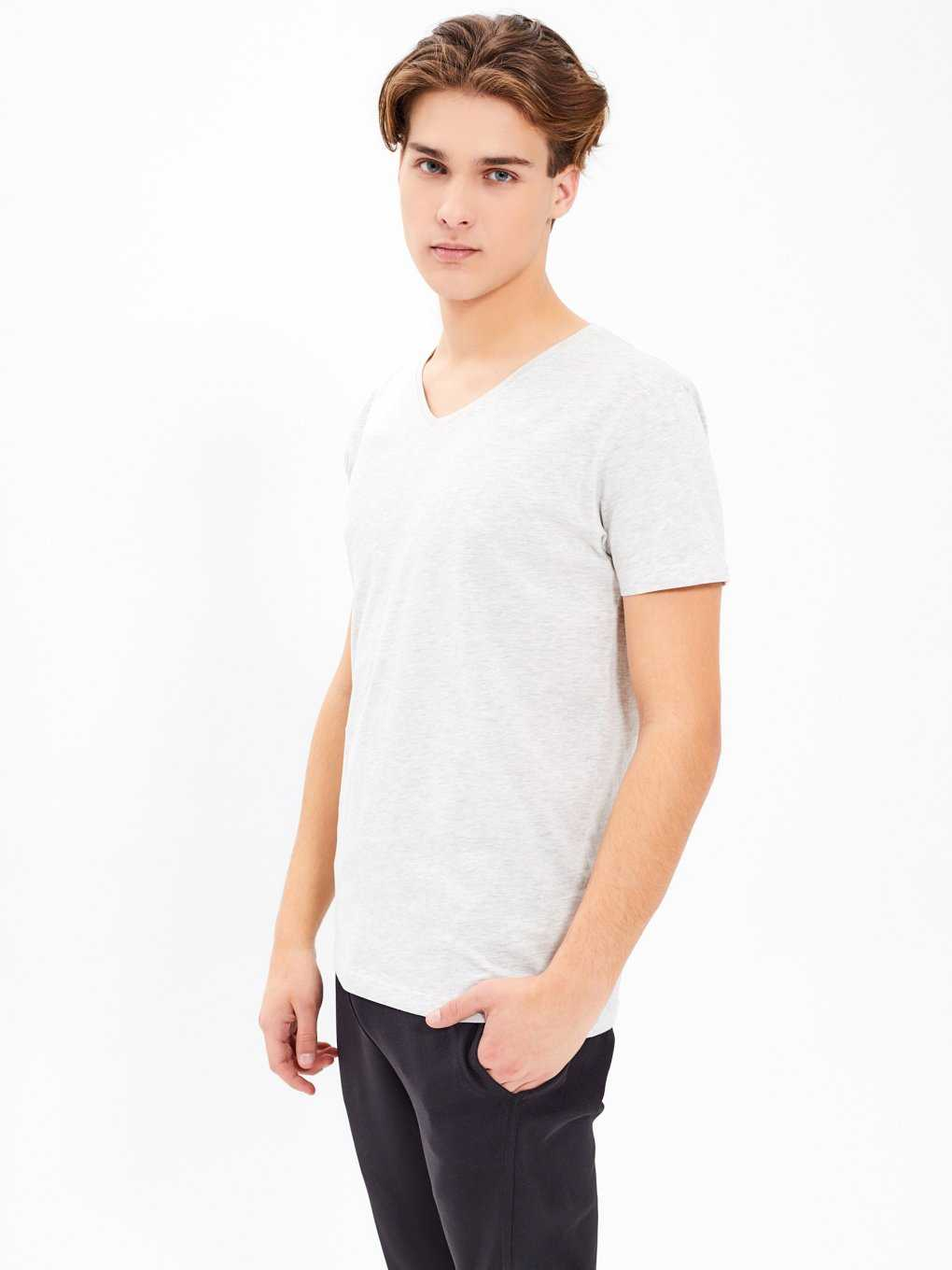 BASIC SLIM FIT V-NECK T-SHIRT