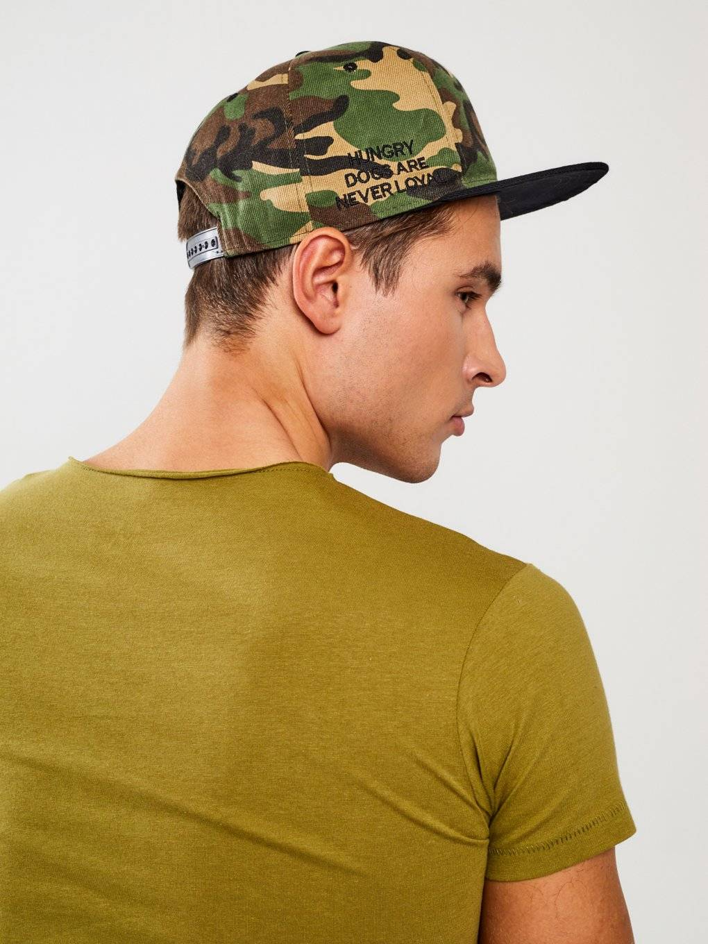 Camo snapback with embroidery