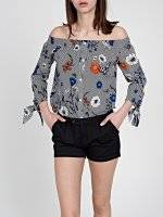 OFF-THE-SHOUOLDER TOP WITH FLORAL PRINT