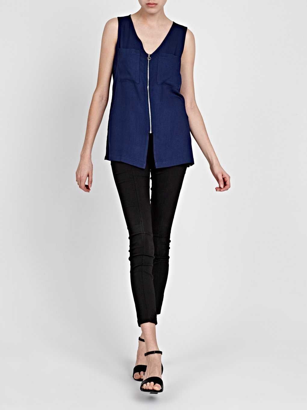 VISCOSE ZIP-UP TOP
