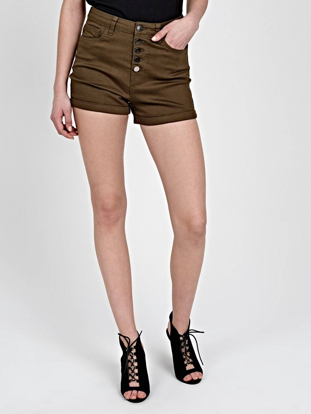 SKINNY SHORTS WITH HIGH WAIST