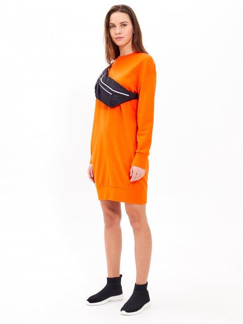 ec4522e72744 Mikinové šaty s vreckami