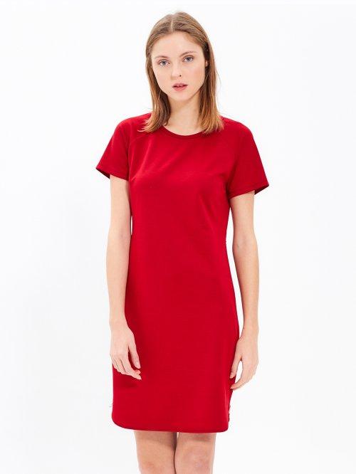 72981abe817 Tričkové šaty s bočním zipem