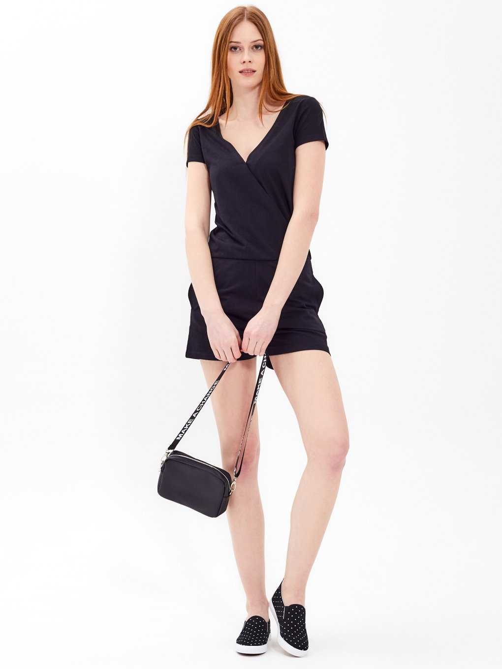 Plain short jumpsuit