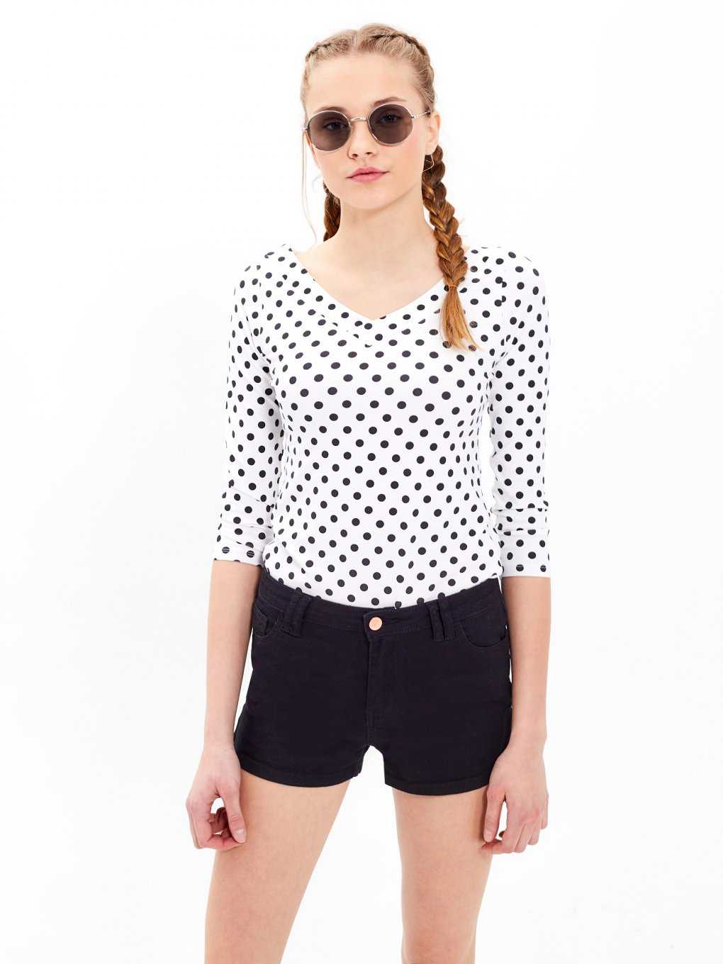 Polka dot print top