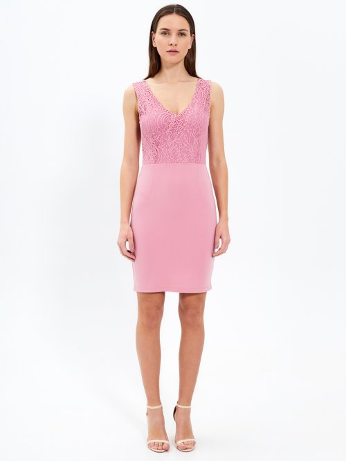 Bodycon dress with lace